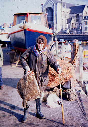 A 20-pound turbot from the Shambles bank.  A 12-foot flowing trace and mackerel strip was the successful method.